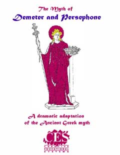 Demeter and Persephone High School play script cover