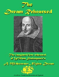 Dream Rehearsed play script cover about Shakespeare's 