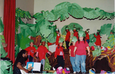 Classics in the Classroom picture of students rehearsing the Jungle Book