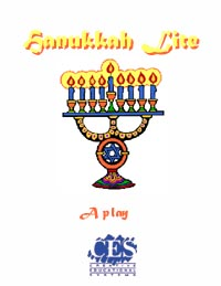 Hanukkah Lite holiday 1st grade play script cover