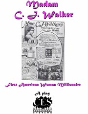 Madam C. J. Walker-first American woman black millionaire 6th grade play script cover