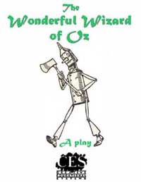 Wonderful Wizard of Oz Junior High School play script cover