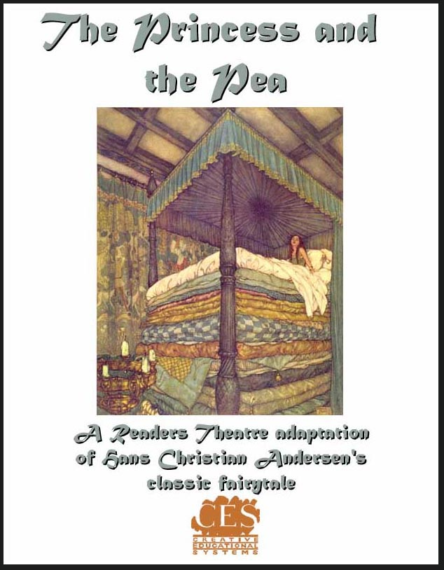 The Princess and the Pea play script adaptation of the Hans Christian Andersen fairy tale cover