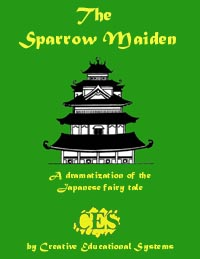 The Sparrow Maiden Japanese fairytale 6th grade play script cover