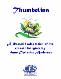 Thumbelina fairytale by Hans Christian Andersen 5th grade play script cover