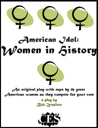 American Idol: Women in History 6th grade play script cover